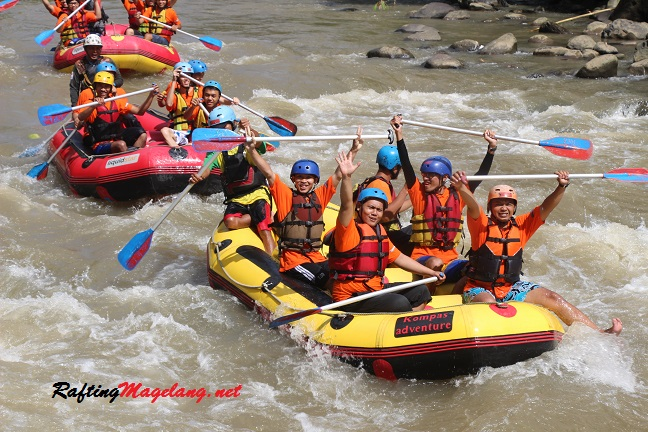 Tiket Masuk Rafting Sungai Elo Magelang