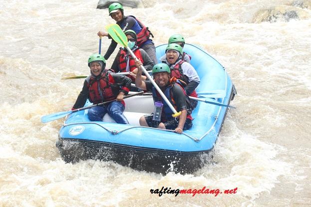 Lokasi Rafting Sungai Elo Magelang